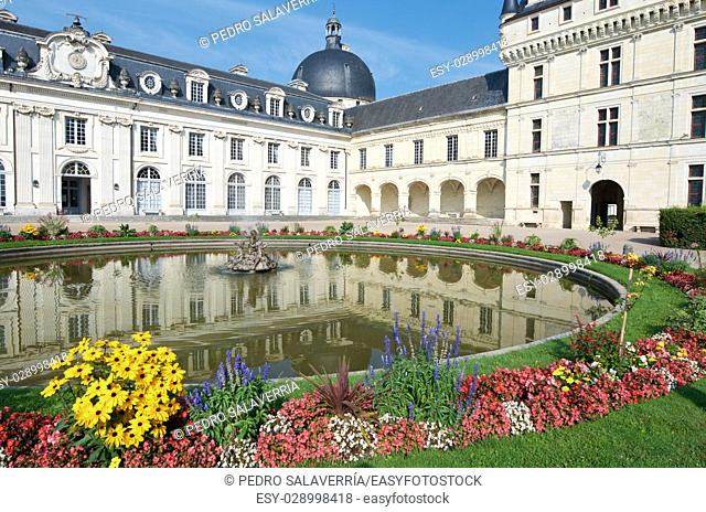 Valençay Castle, Loire Valley, France. Built between the 16th and 18th centuries, mixing classical style architecture and the Renaissance