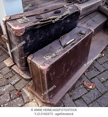 Old suitcase. Amusement Park Fort Fun, Sauerland, Bestwig, Germany