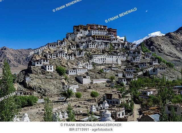 Thiksey Gompa monastery, built on a hill, Ladakh, Jammu and Kashmir, India