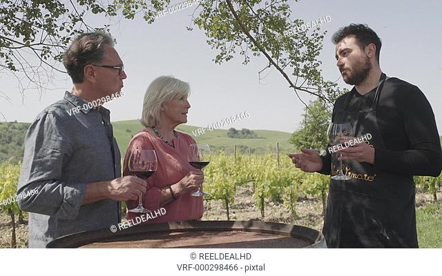 Senior couple at wine tasting