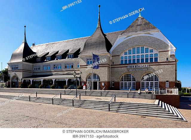 Alter Kursaal building with town hall and casino in Westerland, Sylt, Schleswig-Holstein, Germany