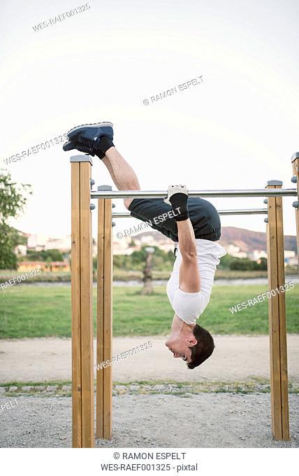 Athlete man, training, outdoor