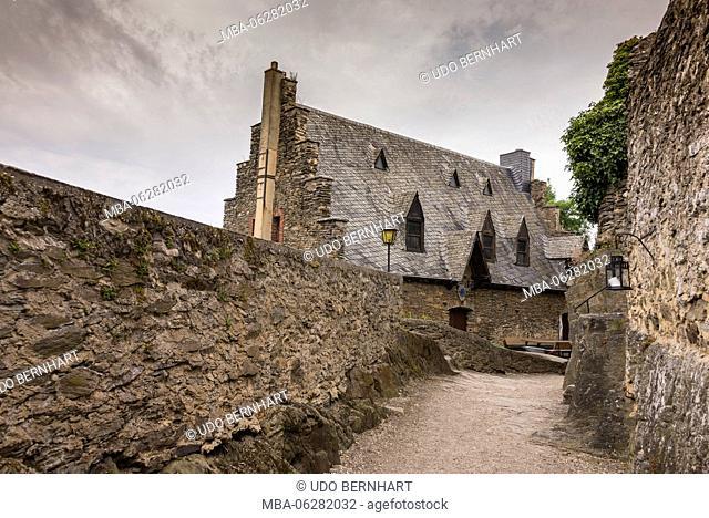 Europe, Germany, Rhineland-Palatinate, district Bernkastel Wittlich, Mittelmosel, the Moselle, Veldenz, castle Veldenz