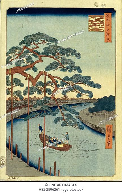 Five Pines and the Onagi Canal (One Hundred Famous Views of Edo), 1856-1858. Found in the collection of the State Hermitage, St. Petersburg