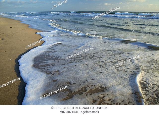 Beach surf, Pepper Park Beachside, Fort Pierce, Florida