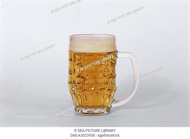 Beers: Strong Italian lager Poretti Bock 1877. German glass