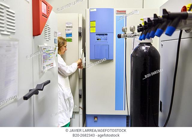 -80C Freezer chamber. Pre-formulation, design and development of drugs and new pharmaceuticals. Certified with Good Laboratory Practices (GPL)