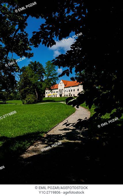 Luznica castle near Zapresic Zagreb in Croatia and its park