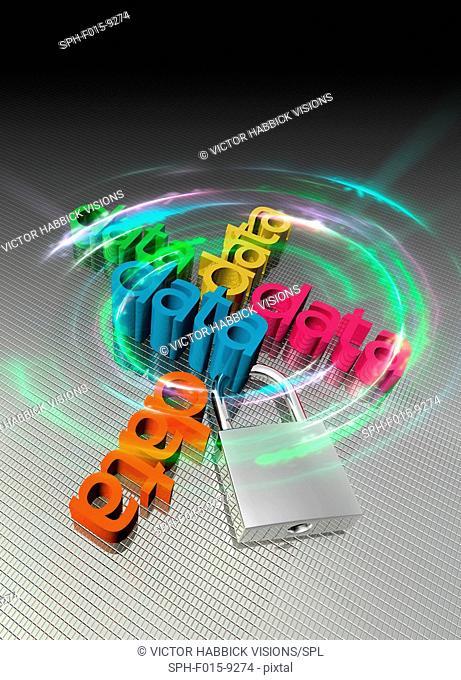 Data security concept, illustration