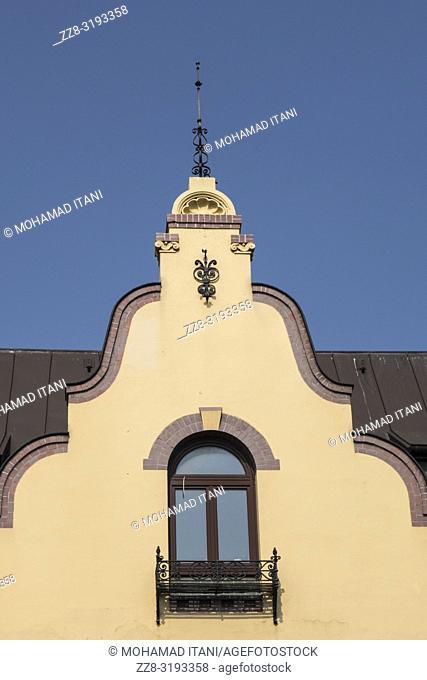 Old house facade Hamburg Germany
