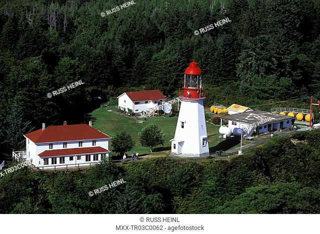 Aerial of Pachena Lighthouse, Vancouver Island
