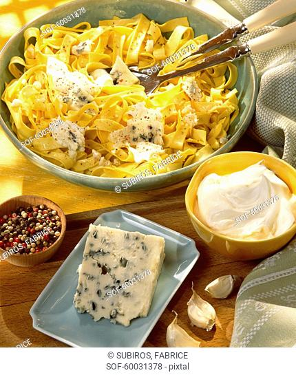 Pasta with roquefort