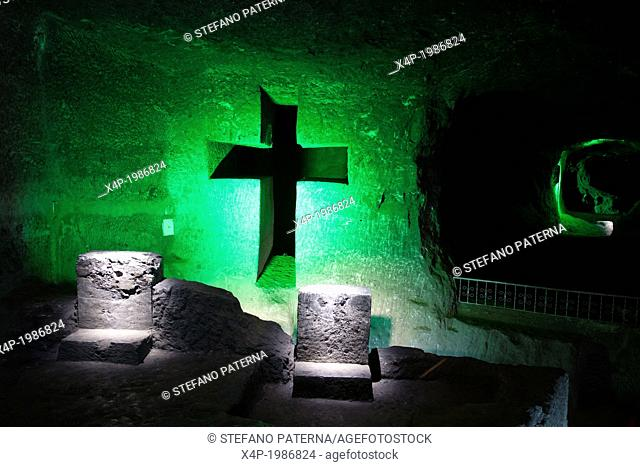 Catedral de Sal, The Salt Cathedral, Zipaquira, near Bogota, Colombia