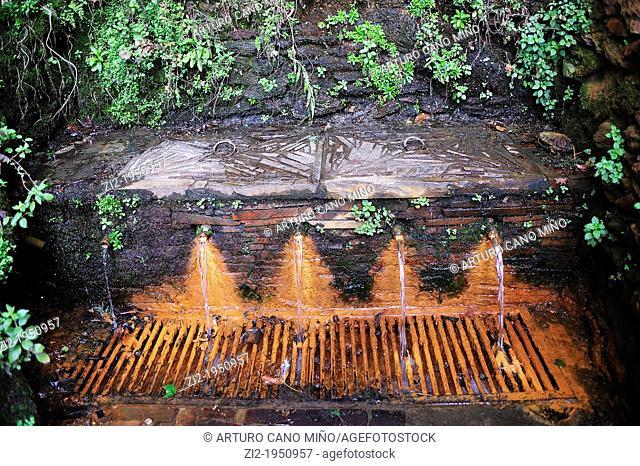 In the region of Las Alpujarras ferruginous water sources are called Agrias sources. Pórtugos, Granada, Spain