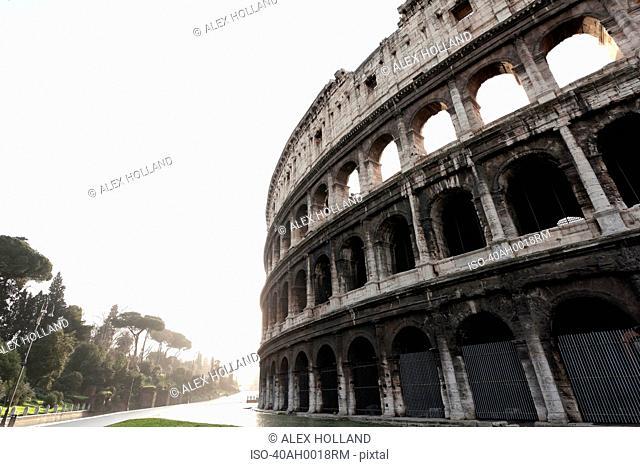 Low angle view of Roman Coliseum