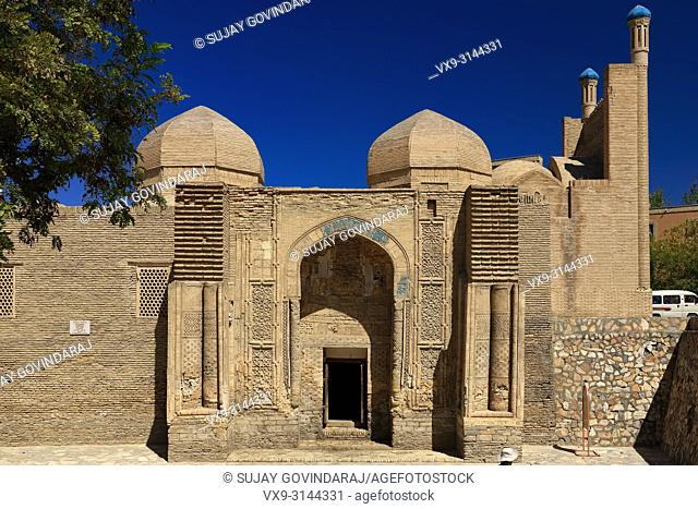 Bukhara, Uzbekistan - August 27, 2016: Magoki Attori, a 16th century mosque that was built on the site of the pre-Islamic Moh temple in Bukhara