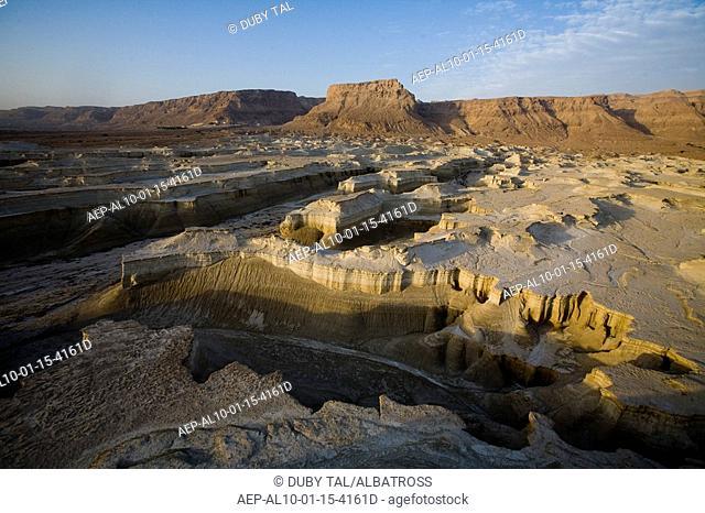 Aerial photograph of Masada in the Judean desert