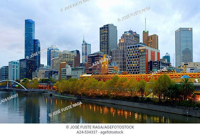 Flinders Street Station. Melbourne City. Victoria. Australia. April 2006