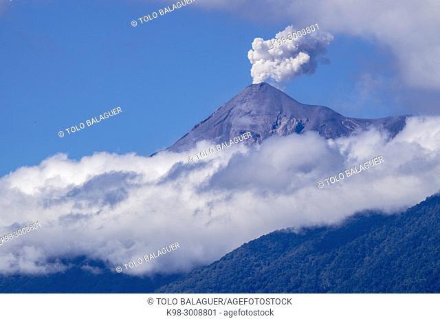 volcán de Fuego, Antigua Guatemala, departamento de Sacatepéquez, República de Guatemala, América Central