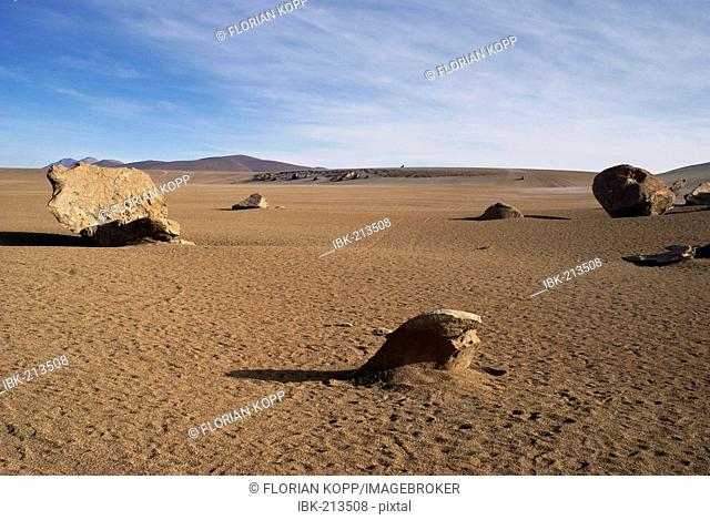 Lava boulder in the desert, Uyuni Highlands, Bolivia
