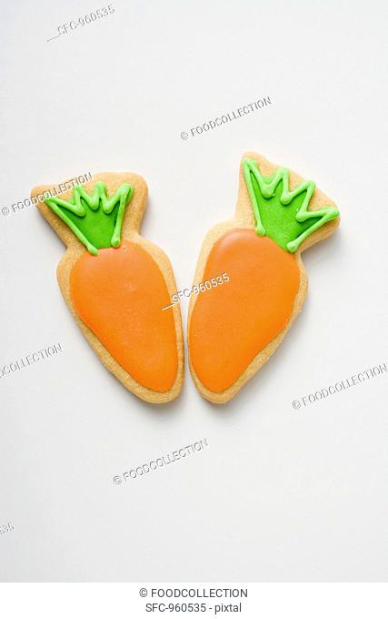 Two Easter biscuits carrots