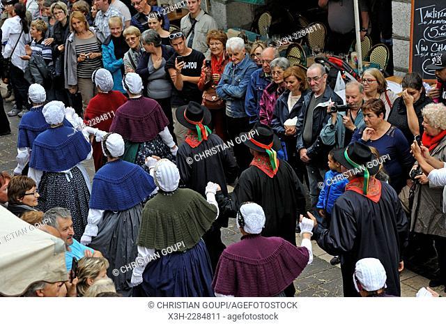 Transhumance Festival, Sainte-Claire square, Old Town of Annecy, Haute-Savoie department, Rhone-Alpes region, France, Europe
