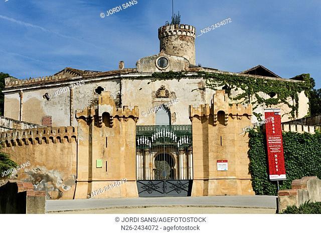 Labyrinth park Horta, in Barcelona. Desvalls Palace
