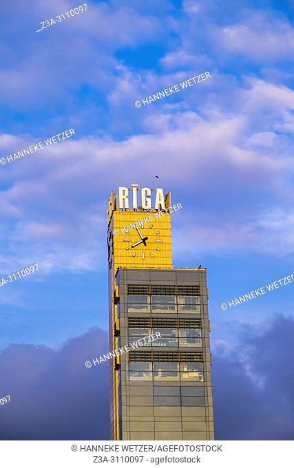 Origo clock tower in Riga, Latvia, Baltic States