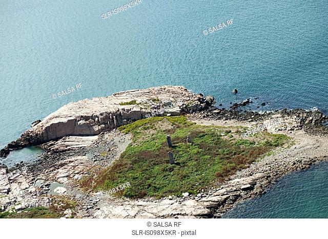 Rocky coastline, Newport County, Rhode Island, USA