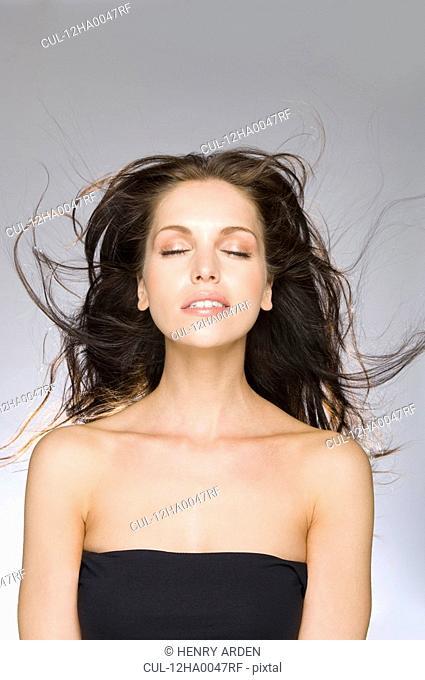 female beauty eyes closed