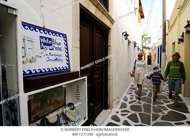 Oldtown, Castro, Naxos, Cyclades, Greece, Europe