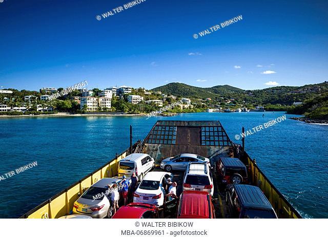 U.S. Virgin Islands, St. John, Cruz Bay, aboard the St. Thomas Ferry