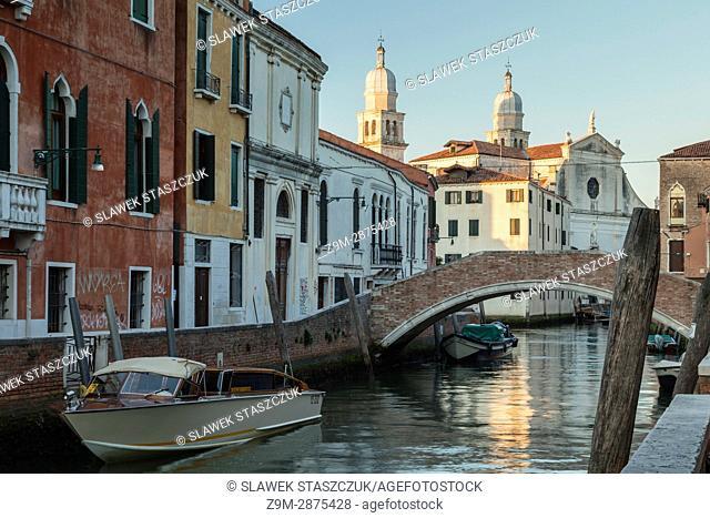 Sunrise in Dorsoduro district of Venice, Italy