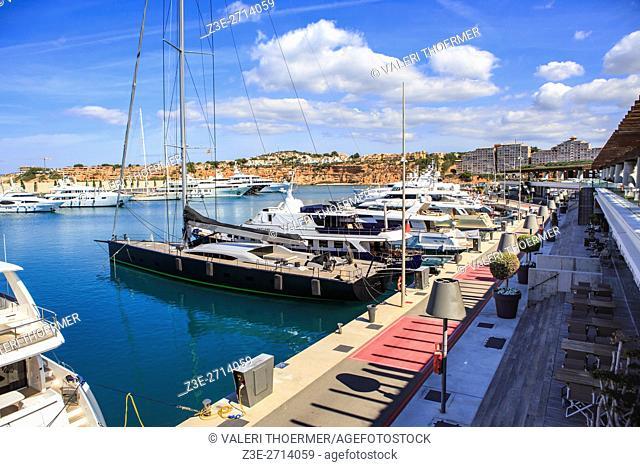 PORT ADRIANO, MALLORCA, SPAIN: The Port Adriano at Et Toro on Mallorca Island, Spain