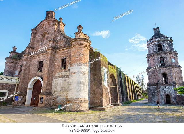 Our Lady of the Assumption Church (Nuestra Señora de la Asuncion) and detached belltower in Santa Maria, Ilocos Sur, Ilocos Region, Philippines