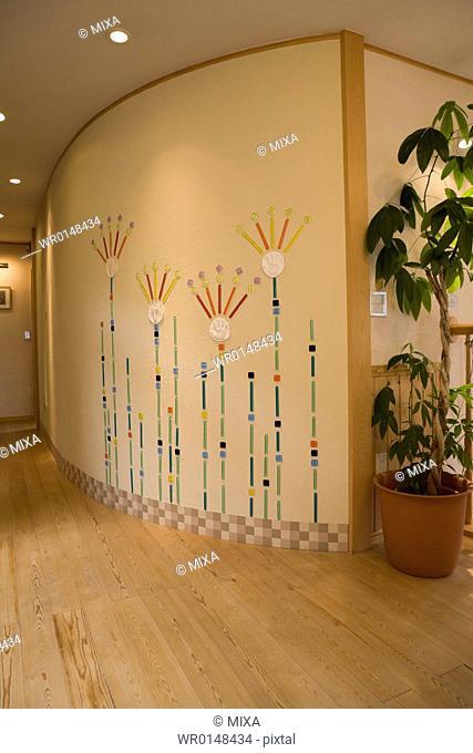 Corridor and wall