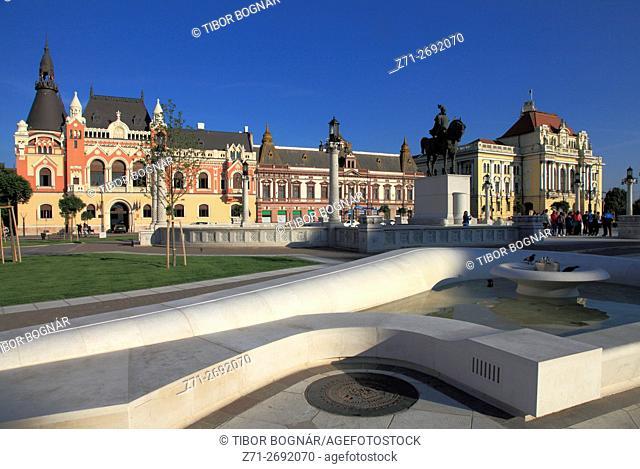 Romania, Crisana, Oradea, Piata Unirii,