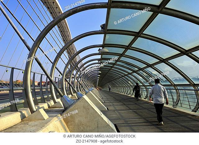 Bridge of Third Millennium, formerly EXPO 2008. Zaragoza, Spain