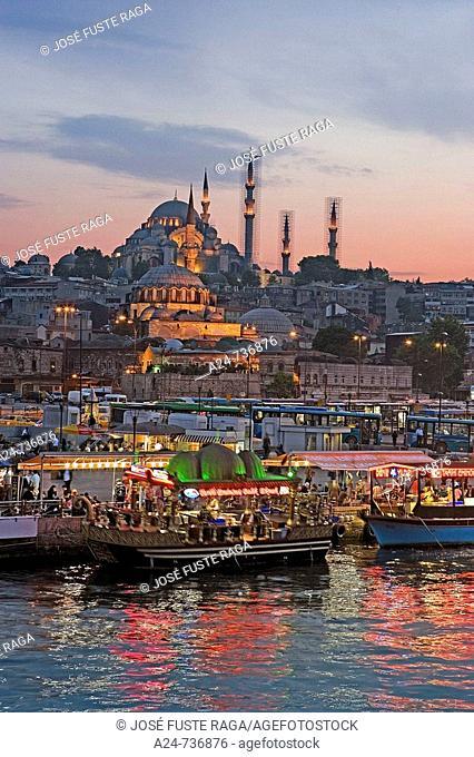 Suleymaniye Mosque and Golden Horn, Istanbul, Turkey