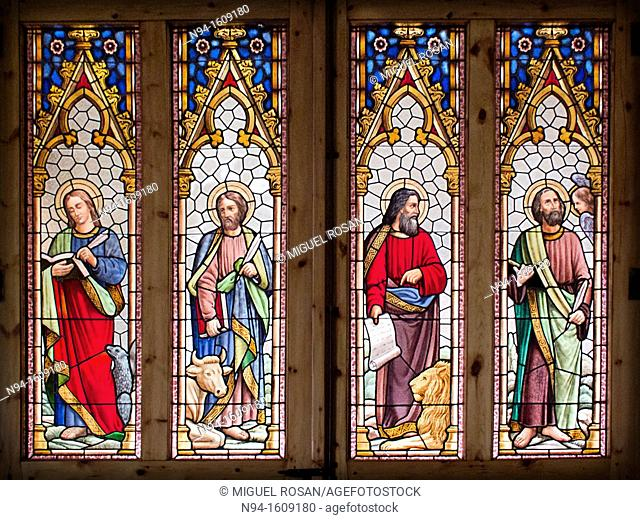 One of the windows of the Cathedral of Santa Maria de Urgel, La Seu D'Urgell