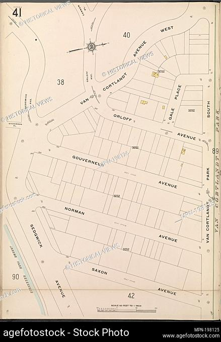 Bronx, V. 13, Plate No. 41 [Map bounded by Van Cortlandt Avenue West, Gale Pl., Saxon Ave., Sedgwick Ave.]. Sanborn Map Company (Publisher)