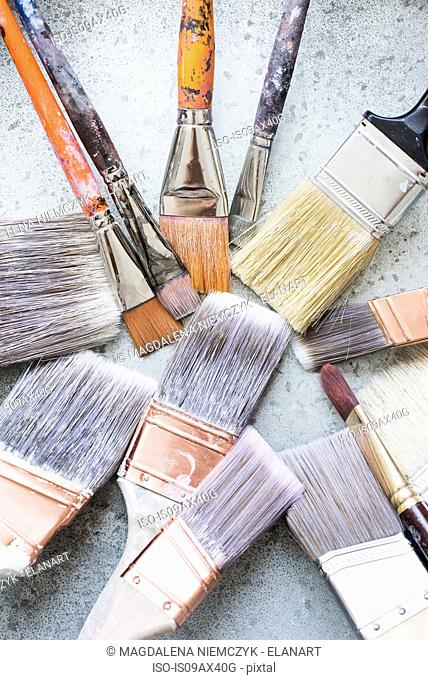 Assortment of paint brushes