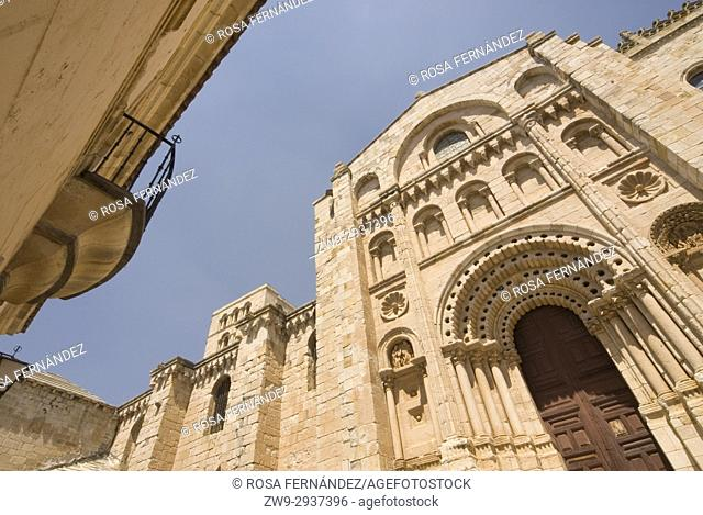 Cathedral of San Salvador of Zamora, Bishop's Door, Romanesque Style, XII Century and Bishop's Palace, Province of Zamora, Via de la Plata, Silver Route