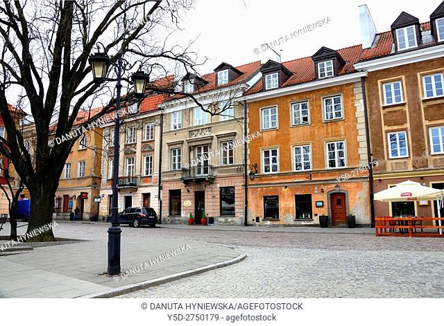 Residential buildings, Rynek Nowego Miasta, New Town Market Place, Warsaw, Poland, Europe