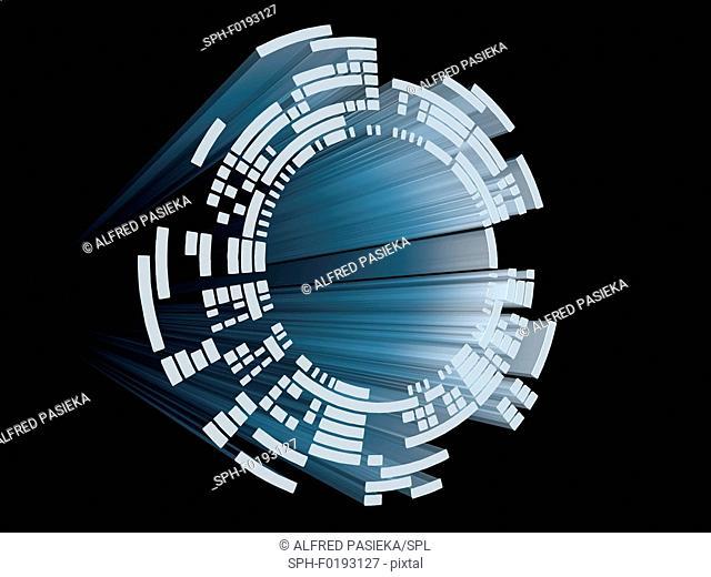 Abstract circular display element