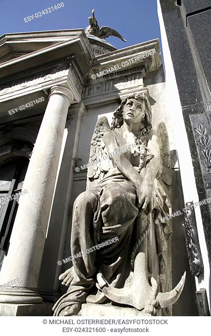 Statue in the Cemetery of Recoleta, Buenos Aires, Argentina