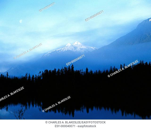 Mount Myra and Buttle Lake. Strathcona Provincial Park. Vancouver island, British Columbia. Canada