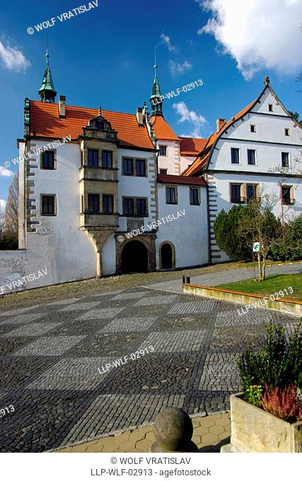 Lower Chateau in Benesov nad Ploucnici, Decin District, Usti nad Labem Region, Czech Republic