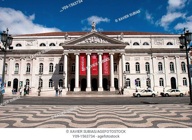 National Theatre D  Maria II, Rossio Square, Lisbon Portugal