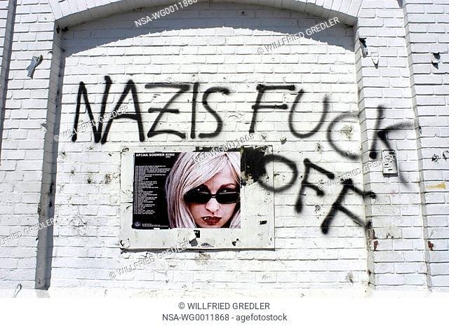 Schrift auf Wand